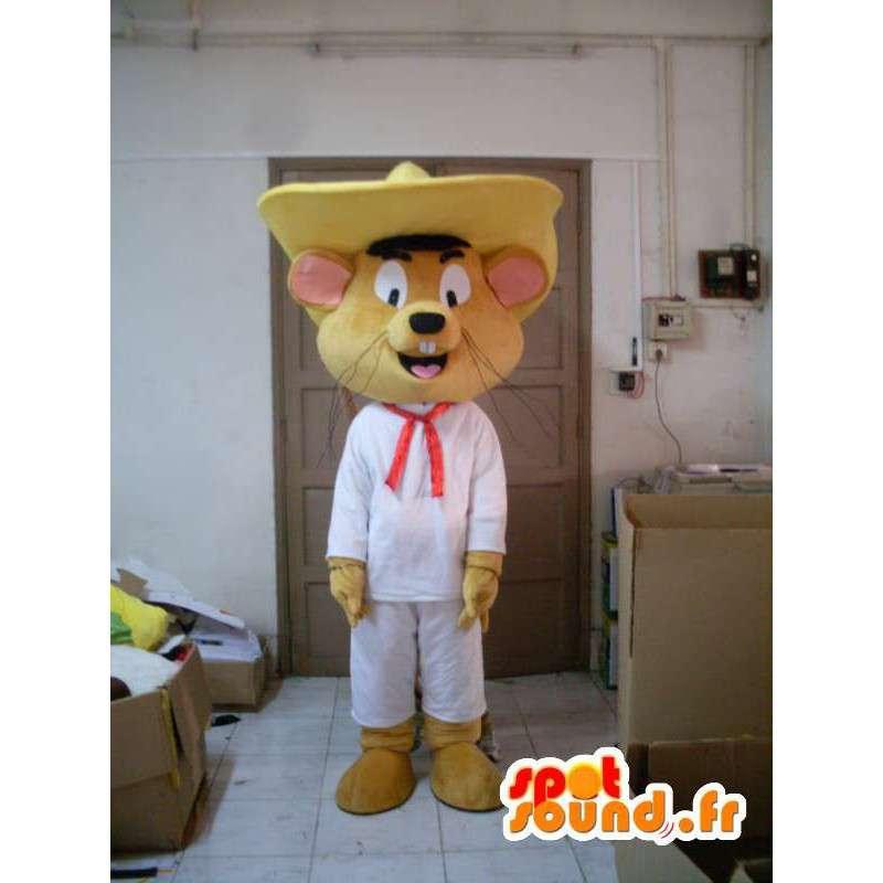 Mascot Meksikon hiiri - puku lisävarusteilla - MASFR001199 - hiiri Mascot