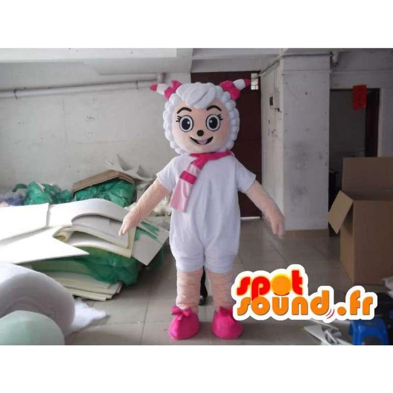 πρόβατα μασκότ με αξεσουάρ - κοστούμι όλα τα μεγέθη - MASFR001158 - Μασκότ Πρόβατα