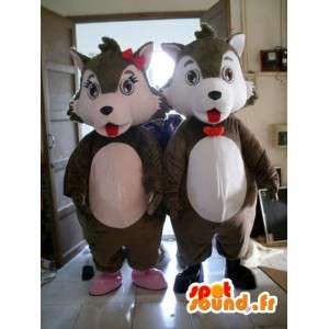 Garnitur męski lub żeński wiewiórki - pluszowy kostium - MASFR001163 - maskotki Squirrel