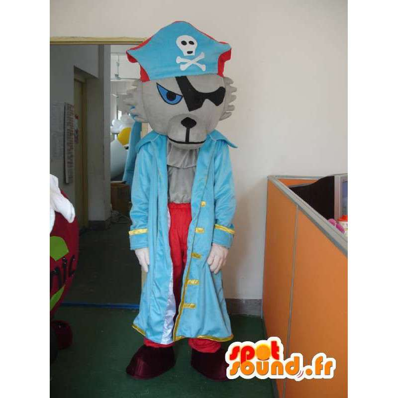 Wolf mascot pirate - pirate costume with accessories - MASFR001164 - Mascots Wolf