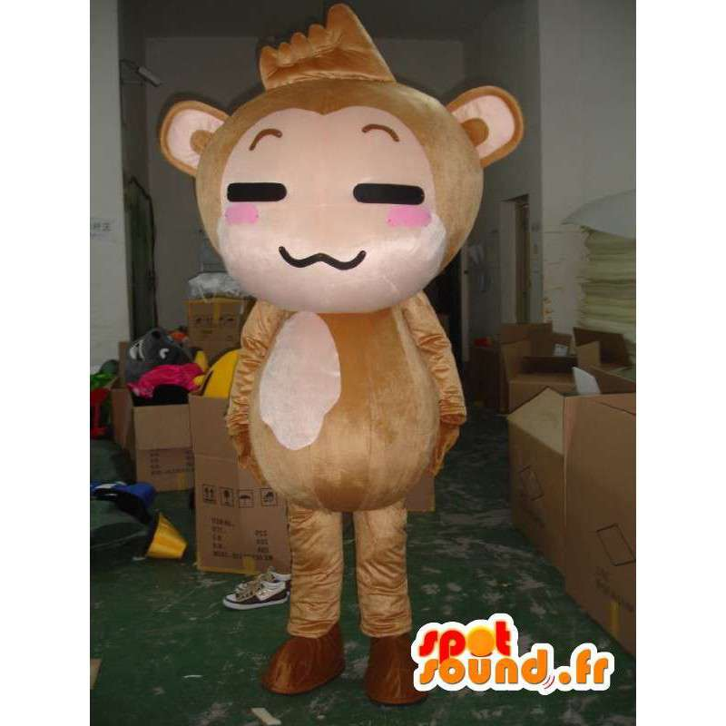 Costume de chat chinois - Déguisement de chat en peluche - MASFR001165 - Mascottes de chat
