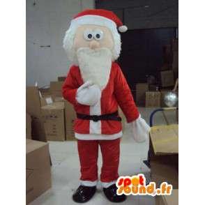 Weihnachtsmann-Maskottchen großen Bart - Weihnachtsmann-Kostüm - MASFR001167 - Weihnachten-Maskottchen