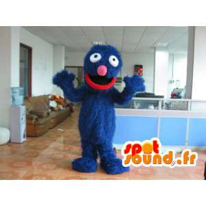 Plys Grover kostume - Blå farve kostume - Spotsound maskot