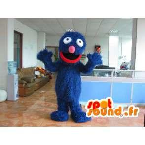 Grover βελούδου κοστουμιών - μεταμφίεση μπλε - MASFR001171 - Μη ταξινομημένες Μασκότ