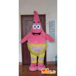 Mascot Star vaaleanpunainen meri - merieläin puku
