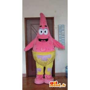 Pink Star Sea Maskottchen - Tierkostüme Meer - MASFR001172 - Maskottchen Seestern