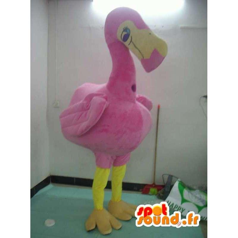 Flamingo mascotte - een dier kostuum teddy - MASFR001173 - Mascottes van de oceaan