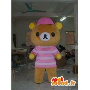 Maskot Teddy s kloboukem - plyšový kostým
