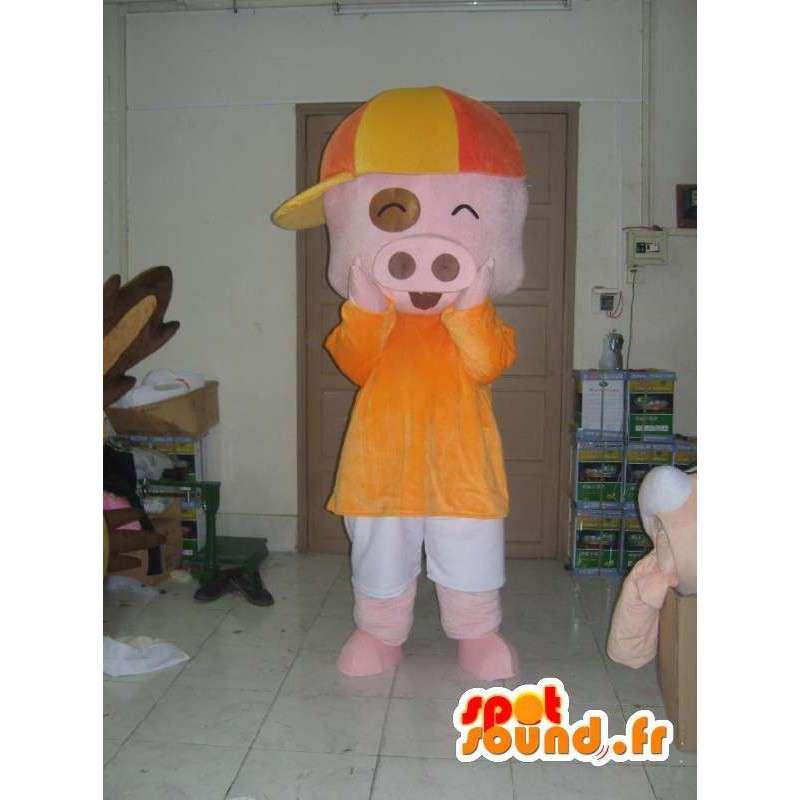 服を着た豚の衣装 - コスチュームサイズ - MASFR001178 - 豚マスコット