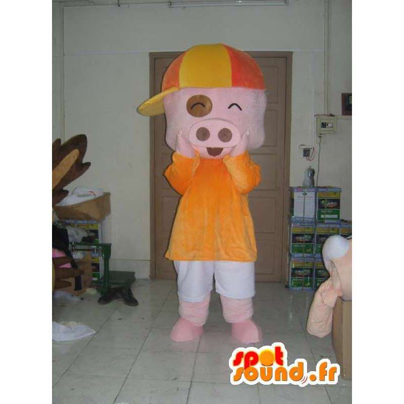 Dressed pig costume - Costume all sizes - MASFR001178 - Mascots pig