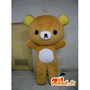 Mascotte d'ours caramel - Déguisement en peluche