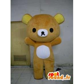 Mascotte d'ours caramel - Déguisement en peluche - MASFR001180 - Mascotte d'ours