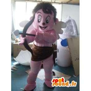 Puku vaaleanpunainen enkeli - enkeli puku nalle - MASFR001182 - Mascottes Humaines