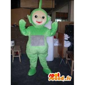 Maskot lille grøn mand - forklædning af plads - Spotsound maskot
