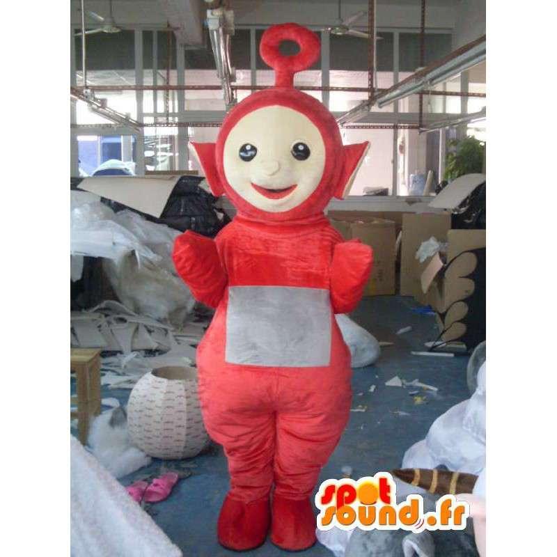 コスチューム少し赤い男 - 変装スペース - MASFR001184 - マンマスコット