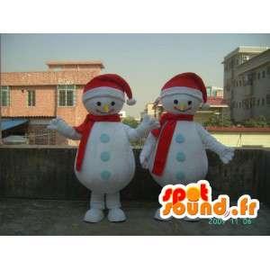 Costume de bonhomme de neige souriant - Déguisement toutes tailles