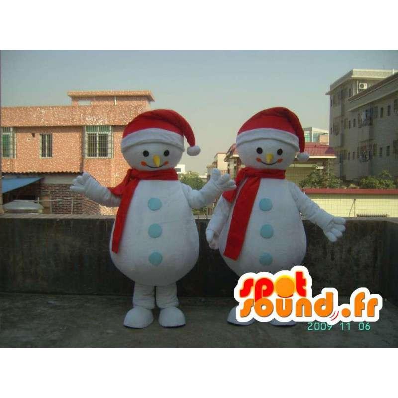 Costume de bonhomme de neige souriant - Déguisement toutes tailles - MASFR001186 - Mascottes Homme