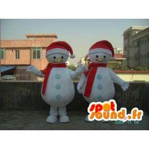 コスチュームを笑顔雪だるまは - すべてのサイズを変装します - MASFR001186 - マンマスコット