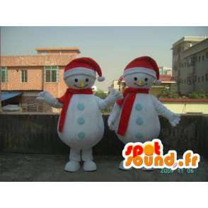 Costume smiling snowman - Costume all sizes - MASFR001186 - Human mascots
