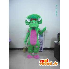 Prähistorische Maskottchen aus Plüsch - grünen Kostüm - MASFR001187 - Fehlende tierische Maskottchen