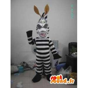 Zebra kostuum lachen - gevulde zebra costume