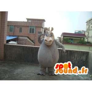 Virtahepo maskotti - eläin puku teddy