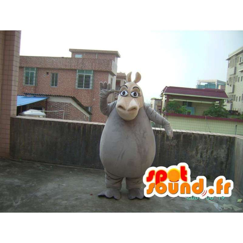 Virtahepo maskotti - eläin puku teddy - MASFR001191 - Hippo Maskotteja
