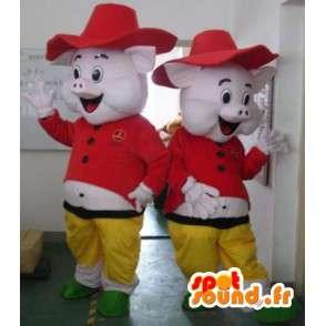 Ferkel Sheriff Kostüm - Kostüme alle Größen - MASFR001192 - Maskottchen Schwein