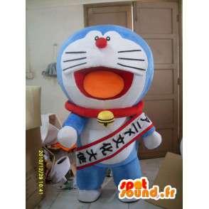 Blue Cat Mascot Doraemon stil - moro Costume - MASFR00859 - Cat Maskoter