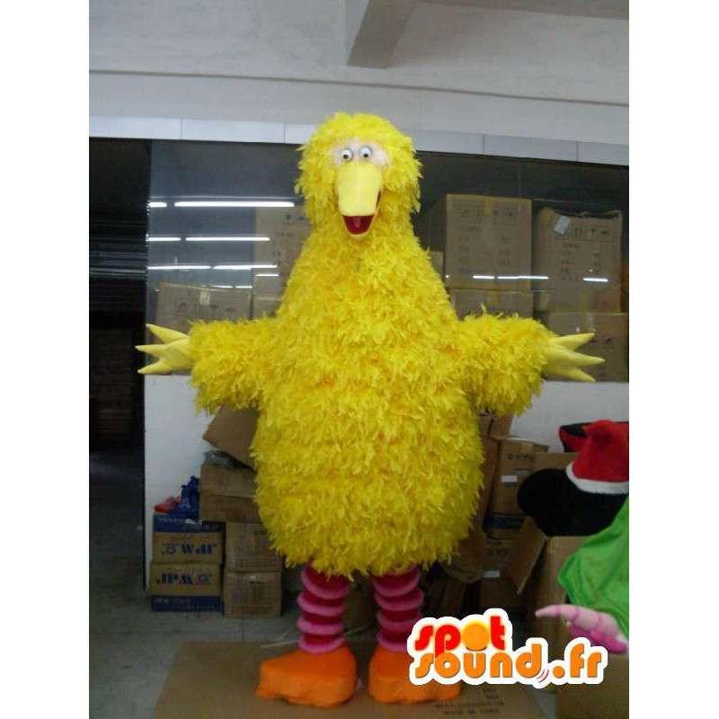 Mascotte de canari jaune style poussin jaune en peluche et fibres - MASFR001209 - Mascotte de Poules - Coqs - Poulets