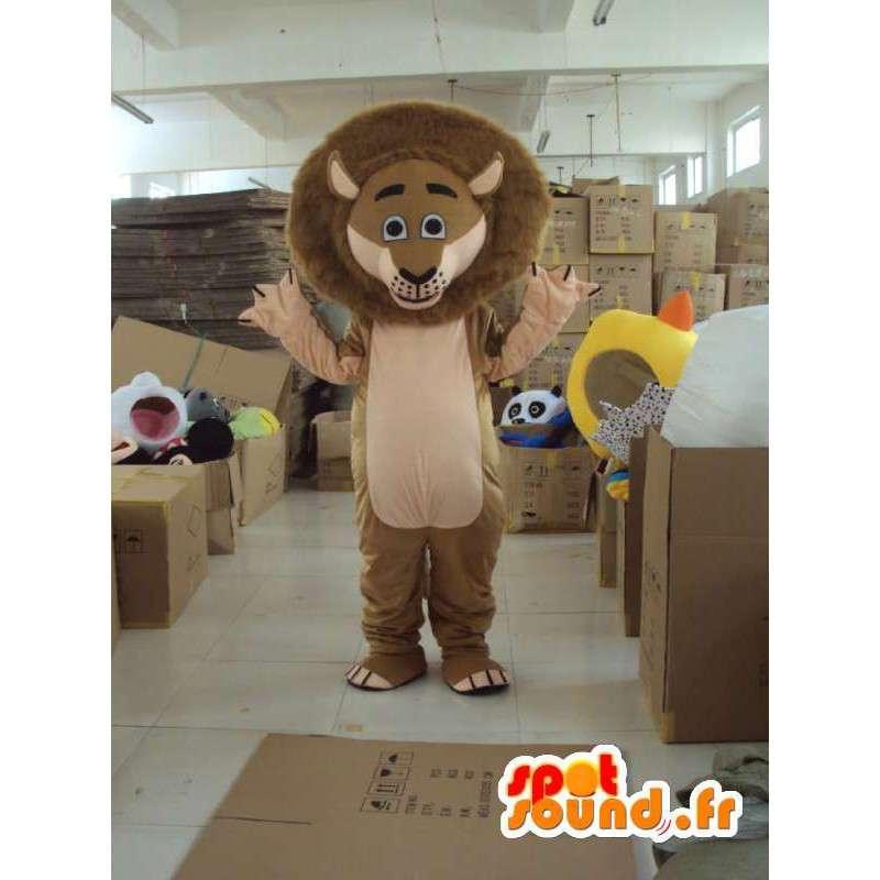 Lion maskot Madagaskar - Slavný Lev kostým s příslušenstvím - MASFR001211 - lev Maskoti