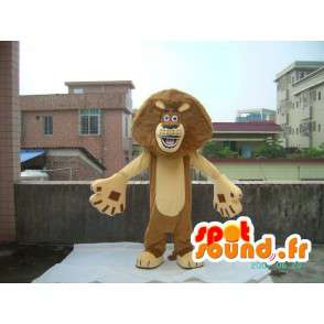 Madagascar Lion Mascot - Costume famous lion with accessories - MASFR001212 - Lion mascots