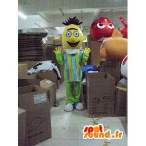 Único homem mascote em cabeça amarela - MASFR001213 - Mascotes homem