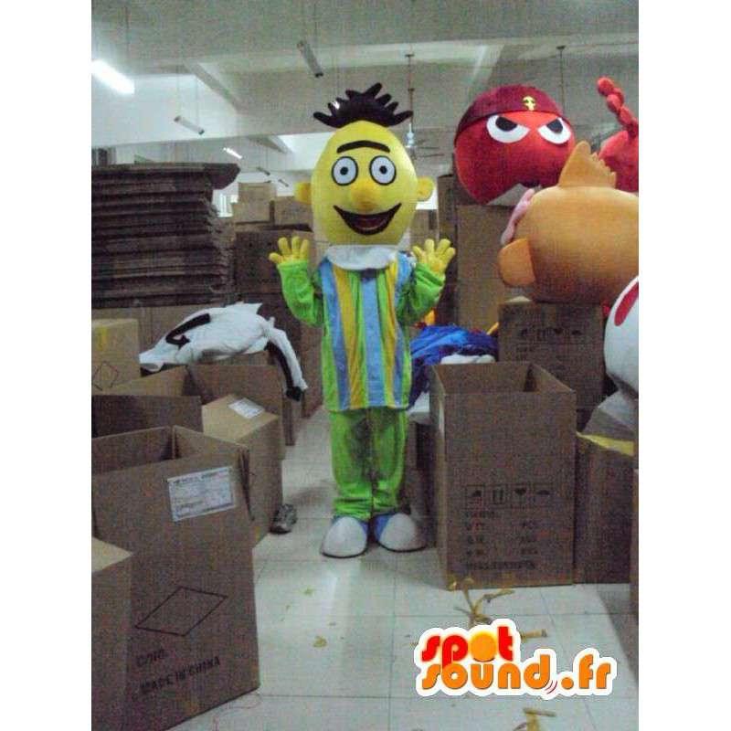 Maskotka pojedynczy człowiek w żółtej głowy - MASFR001213 - Mężczyzna Maskotki