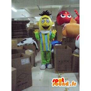 黄色の頭の中でマスコット単一の男 - MASFR001213 - マンマスコット