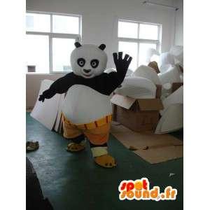 KungFu Panda maskot - Berömd pandadräkt med tillbehör -
