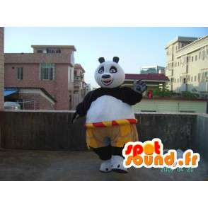KungFu Panda mascota - famoso traje de la panda con los accesorios - MASFR001216 - Mascota de los pandas