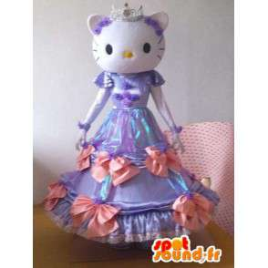 Hello Kitty κοστούμι - μικρό ποντίκι κοστούμι μοβ φόρεμα - MASFR001217 - Hello Kitty μασκότ