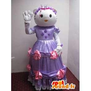 Ciao Kitty Costume - Disguise topolino in abito viola - MASFR001217 - Mascotte Hello Kitty