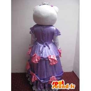 Hallo Kitty Kostüm - kleine Maus Kostüm Kleid in lila - MASFR001217 - Maskottchen Hello Kitty