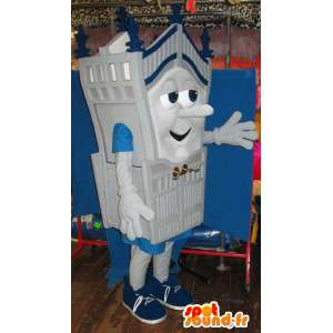 Mascot character cartão e cinza todos os tamanhos Castelo - MASFR001430 - objetos mascotes