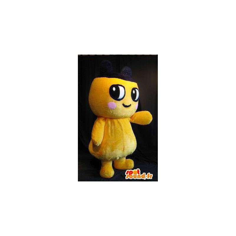 Giallo personaggio mascotte peluche con guancia rosa - MASFR001432 - Mascotte non classificati