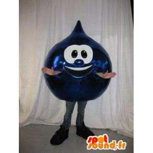 Mascotte blu goccia di olio - tutti i formati