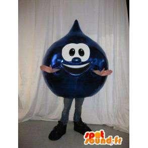 Mascotte goutte de pétrole bleu marine - Toutes tailles - MASFR001433 - Mascottes non-classées
