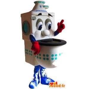 Toiletskål maskot med røde handsker - Spotsound maskot