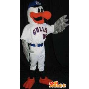 Mascot becco d anatra e le pinne rosse - MASFR001492 - Mascotte di anatre