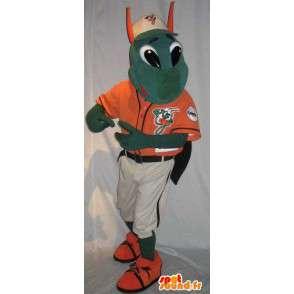 Mascot Mantis grün trägt ein T-Shirt - MASFR001491 - Maskottchen Insekt