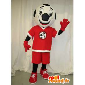 Formet hode maskot kledd fotball - MASFR001498 - sport maskot