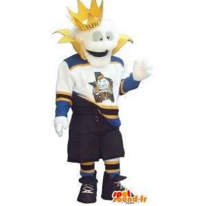 Mascotte de roi moderne en tenue de sport - Toute taille