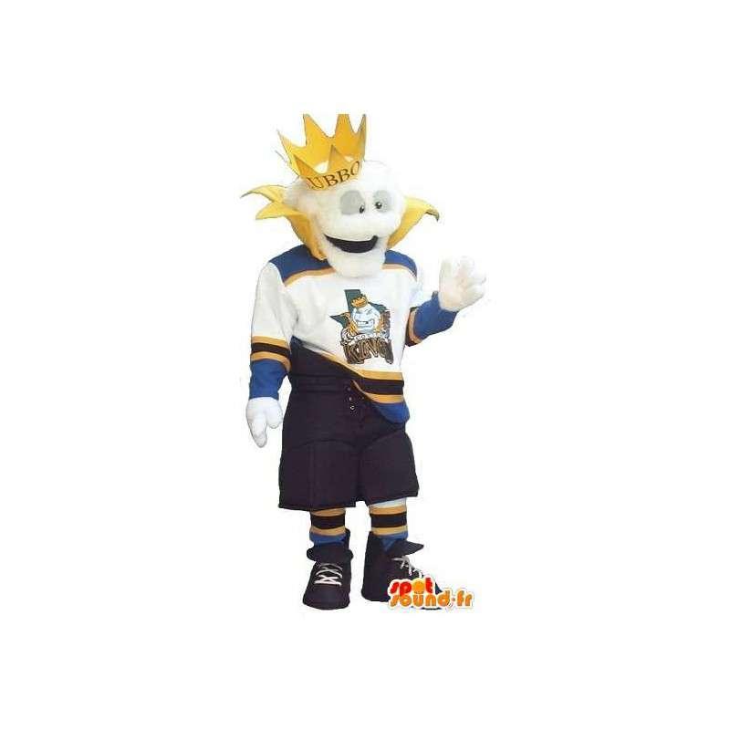 Moderne kong maskot i sportsklær - Alle størrelser - MASFR001502 - sport maskot